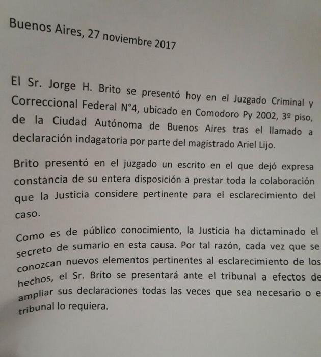 Caso Ciccone: Indagan a Ricardo Echegaray
